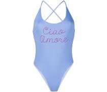"Badeanzug mit ""Ciao Amore""-Slogan"