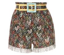Shorts mit Herz-Print