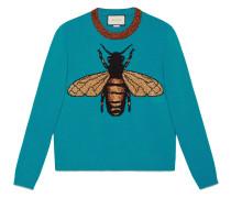 Pullover aus Wollstrick mit Biene