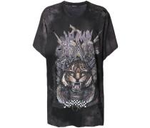 oversized tiger print T-shirt