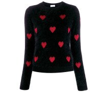 RED(V) heart motif jumper