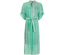 pinstriped shirt dress
