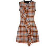 Kariertes Kleid mit Volant