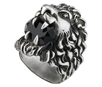 Löwenkopf-Ring mit Kristall