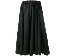 ruffle flared midi skirt