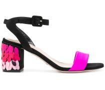sequinned heel sandals