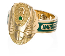18kt 'Protection' Gelbgoldring