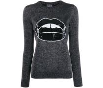 Pullover mit Lippenmotiv