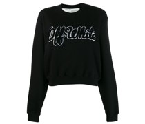 textured logo jumper