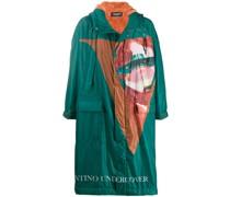 Langer Mantel mit Muster
