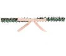 embellished bow front skinny belt