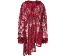 lace oversized hooded dress