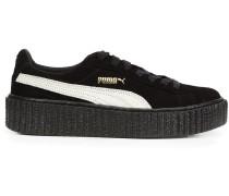 Wildleder-Sneakers mit dicker Sohle
