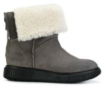 shearling cuffed boots