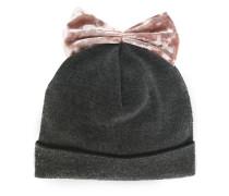 Mütze mit Samt-Schleife