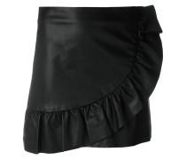 ruffle trim mini skirt