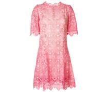 embroidered shift midi dress