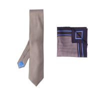 geometric-pattern silk tie set