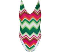 geometric pattern swimsuit