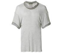 Meliertes T-Shirt mit Rollkragen