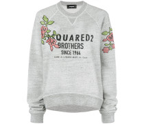 Sweatshirt mit Blumen-Patch