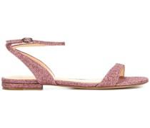 Sandalen mit Glitzer-Finish