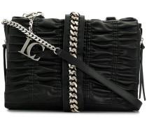 Handtasche mit Faltendetails