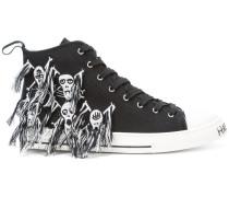 Skull hi-top sneakers