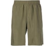 straight-leg silk shorts