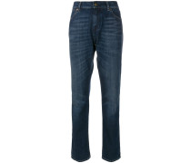 Boyfriend-Jeans mit Farbeffekt