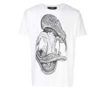 danger raw hem T-shirt