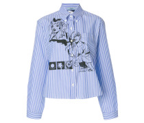 comic book pinstripe shirt