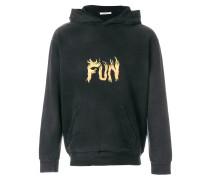 Fun flame print hoodie