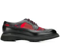 Derby-Schuhe mit Camouflage-Detail