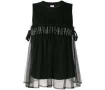 ruffle sleeveless blouse