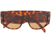 Oversized-Sonnenbrille mit Leoparden-Print