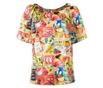 T-Shirt mit Schilder-Print