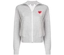 Sweatshirtjacke mit Herzmotiv