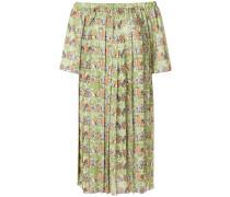 Schulterfreies Kleid mit Tier-Print