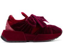 Samt-Sneakers mit Schleife