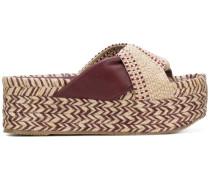 woven knot sandals
