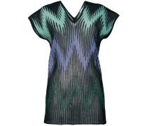 zigzag sheer ribbed knit T-shirt
