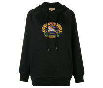embroidered archive logo hoodie