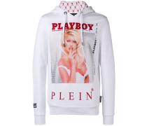 x Playboy Kapuzenpullover mit Kristallen