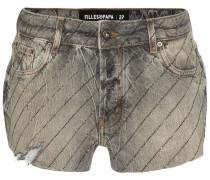 Jeans-Shorts mit Schmucksteinen