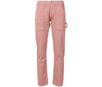 Schmale Cropped-Jeans