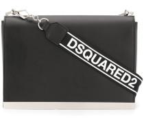 brand embossed shoulder bag
