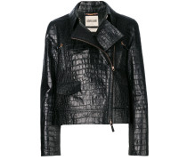 crocodile effect biker jacket