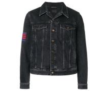 side logo denim jacket