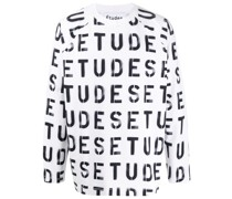 Sweatshirt mit Schablonen-Print